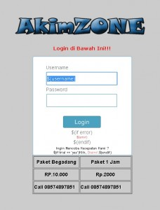 rt-rw simple login page